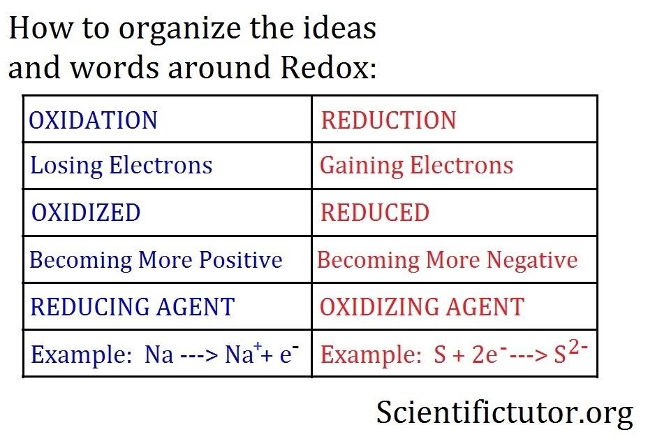Chem Determining Oxidation Versus Reduction Scientific Tutor